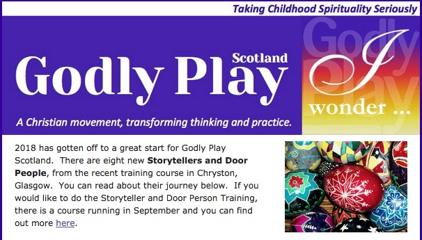 Godly Play Scotland Newsletter – March 2018